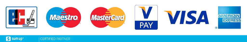 Kartenzahlung mit ec-Karte oder Kreditkarte.